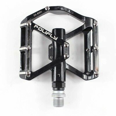 Black 9/16 inch Alloy Mountain Bike Flat Pedals Platform Sealed Bearing Pedals