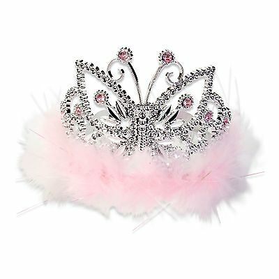 Pink Sparkly Kids Girls Princess Butterfly Tiara / Crown (3-8yrs) Lucy Locket