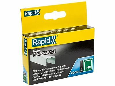 Rapid - 140/8 8mm Galvanised Staples Pack 2000