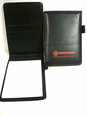 Leed's Black Note Pad 3x5 with Pad of Paper & Pen Holder (New)