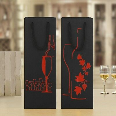 2PCS Wine Bottle Tote Bag Xmas Business Party Wine Carrier Beautiful Box Gift