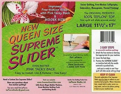 Queen Size Supreme Slider Free Motion Machine Quilting Mat: Improved Trimable Fr