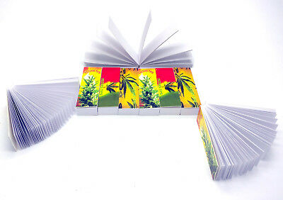100 x ROACH FILTER TIPS BOOKS Rasta Leaf Theme ROACHES CARDS FILTER TIPS