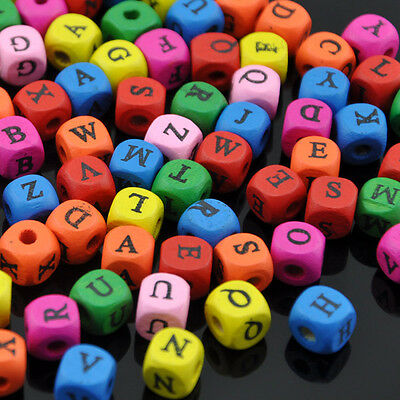 10/50/100pc 10mm A-Z Alphabet Wood Button Kid's Sewing Crafts Accessories WB150