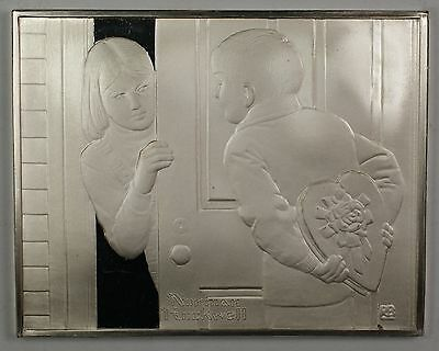 Norman Rockwell Fondest Memories The First Date Sterling Silver Proof Ingot