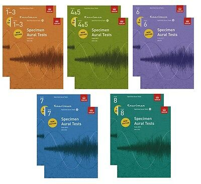 Specimen Aural Tests ABRSM 1-3,4-5,6,7,8 CD Option