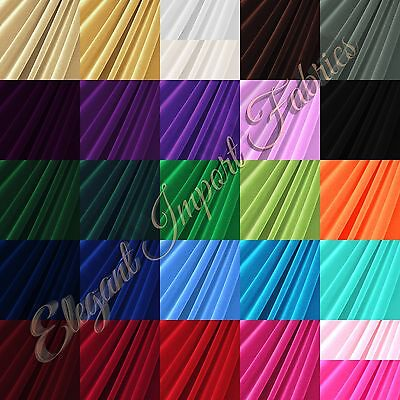 Stretch Velvet Costume / Craft Dress Fabric 12 Colors By The Yard Free Shipping!