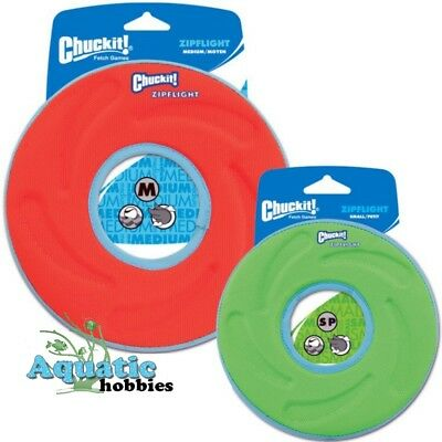 Chuckit! Zipflight Fly, Float & Fetch Frisbee Toy For Dog & Puppy CHOOSE SIZE