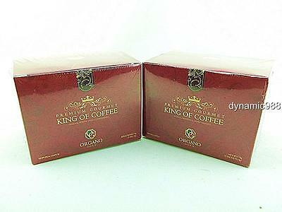 2 x NEW ORGANO GOLD PREMIUM GOURMET KING OF COFFEE W/ GANODERMA SPORE EXP-2018