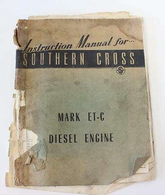 Southern Cross ETC engine 1955 instruction manual second hand