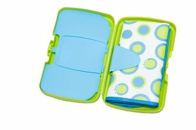 Essential Baby Changing Storage Wallet Nappy Box Wipe Compartment & Changing Mat