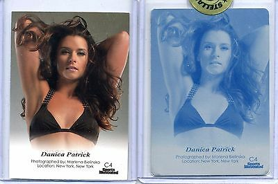 DANICA PATRICK 2012 Sports Illustrated SI Swimsuit #C4 BACK PRINTING PLATE 1/1!!