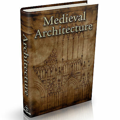 Medieval Architecture Books on DVD Castles Romanesque Gothic Middle Ages Design