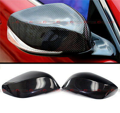 For 2014-2018 Infiniti Q50 S Direct Add-On Carbon Fiber Side Mirror Cover Caps