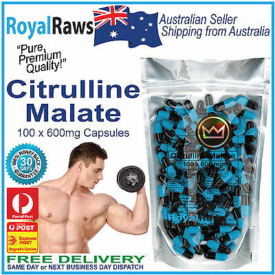 Best Quality Citrulline Malate 100 x 600mg caps pre-workout pump muscle builder