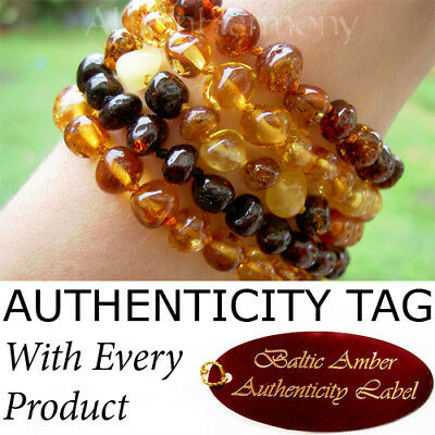 BALTIC AMBER ADULT BRACELET natural health beads AGbA® Certified