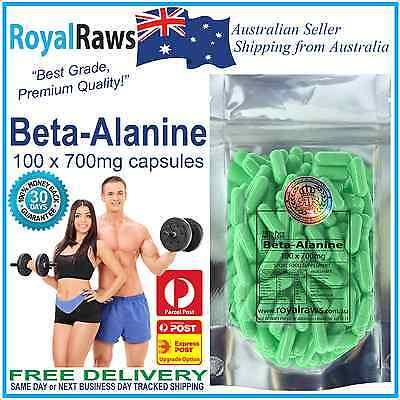 Best Quality Beta Alanine 100 x 700mg capsules pre-workout muscle boost energy