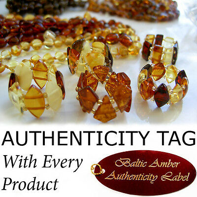 Authentic BALTIC AMBER Jewellery RING - 8 Colours & Many Sizes to Choose From