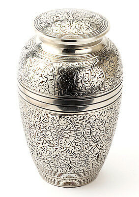 "Banbury Nickel 10"" Cremation Ashes Adult Urn UU100008B"