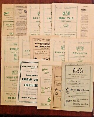 Abertillery Rugby Programmes 1948 - 1992