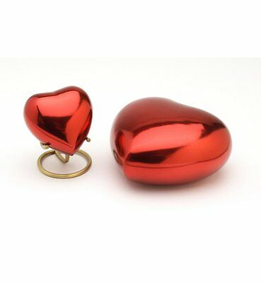 "Classic Red 5"" Heart Cremation Ashes Urn UU500009D"