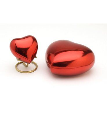 "Classic Red 5"" Heart Cremation Ashes Urn - UU500009D"