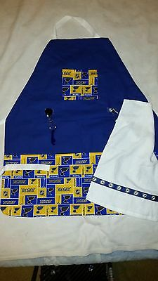 Handmade Sports Apron made with NHL fabric on sturdy canvas fabric