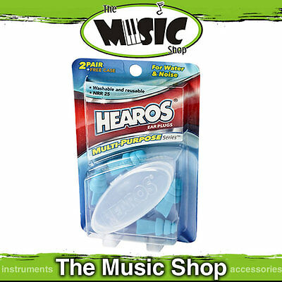 Hearos Multi Purpose Triple Ring Sealed Ear Plugs/Filters for Water & Noise -2pr