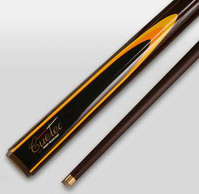 REAL Cuetec Graphite Pool Snooker Billiard Cue Burgundy with Yellow flame