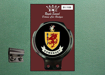 Royale Classic Car Badge & Bar Clip COUNTY of SOMERSET B1.1106