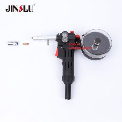 Toothed MIG Spool Gun Wire Feed Aluminum Steel Welding Torch without Cable