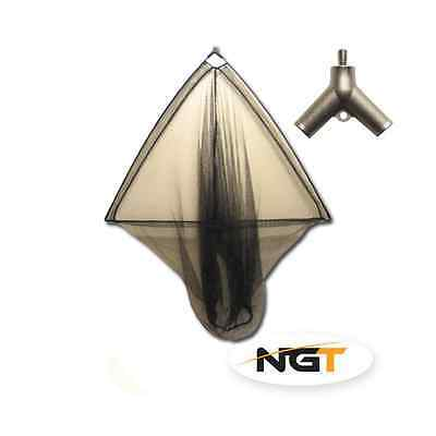 NGT Carp or Pike Folding Specimen Mixed Mesh Net - 42 inch with Spreader Block