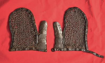Antique Mail Gauntlets Of Polish Karacena Armor to sword 17th century Poland