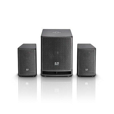 Dave10G3 Active PA system with Sub LD Systems 700Watt 2.1 PA Speaker set