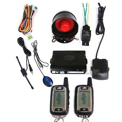 Universal 2 Way Car Alarm Security System With Super long Keyless Remote Control