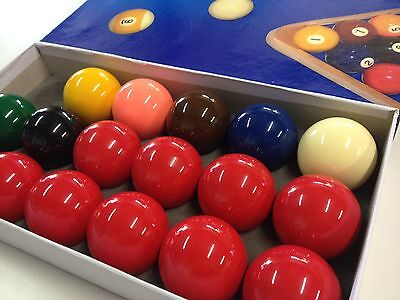 "Professional Full Resin SNOOKER BALLS 2"" inch 10 Red Set (Australian Seller)"