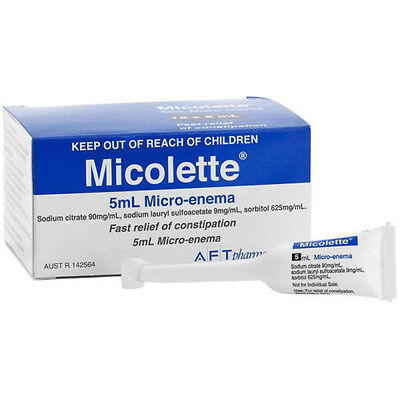 ツ Best Price! Micolette 5Ml Micro-Enema X 50 Same As Microlax  50 X 5Ml
