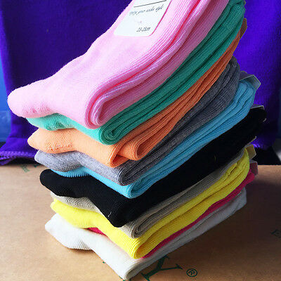 Fashion Pure Candy Color Women Cute Cotton Casual Middle Tude Sport Boat Socks
