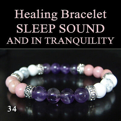 SLEEP SOUND AND IN TRANQUILITY Healing Bracelet-Natural Chakra Stone