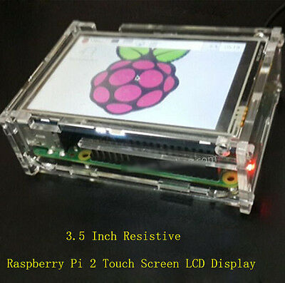 "3.5"" Resistive Touch Screen LCD Display 480x320 For Raspberry Pi B+ 2 3 + Case"