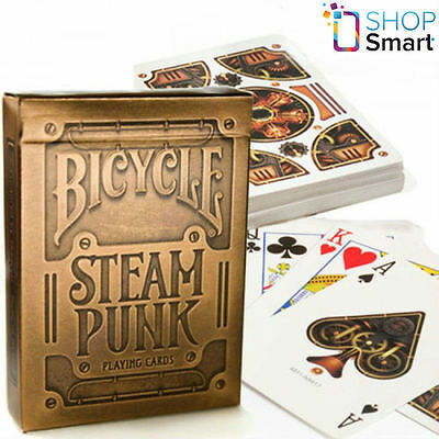 Bicycle Bronze Gold Steampunk Playing Cards Deck Theory 11 Magic Tricks Uspcc