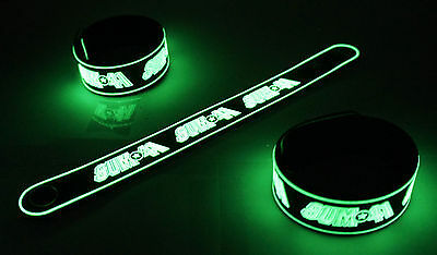 SUM 41 NEW! Glow in the Dark Rubber Bracelet Wristband Blood In My Eyes vg54