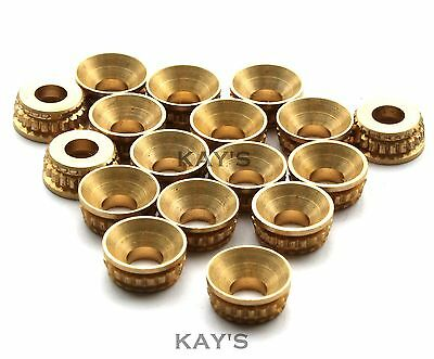 SOLID BRASS TURNED PATTERN SCREW CUP WASHERS, COUNTERSUNK No.6 No.8 No.10 No.12