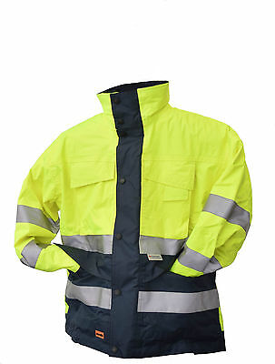 Waterproof Parka Jacket Scruffs Hi-Vis With Hood & Thinsulate Lining Small Sale