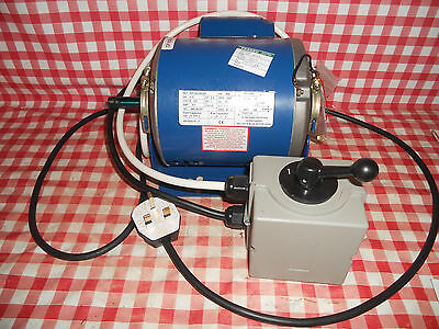 New Pre wired 240 V motor & switch For ML7 & ML10 lathe from Myford-Stuff