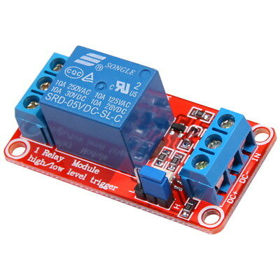 1-Channel 5V Relay Module with Optocoupler H/L High Level Triger for Arduino