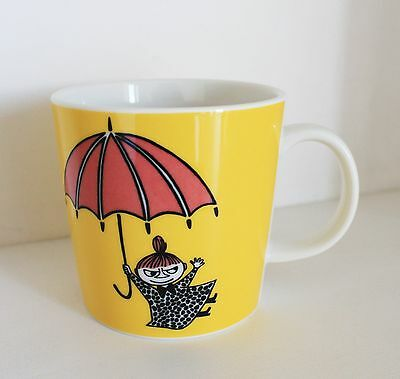 Arabia Finland Moomin mug Little My, Pikku Myy yellow, discontinued