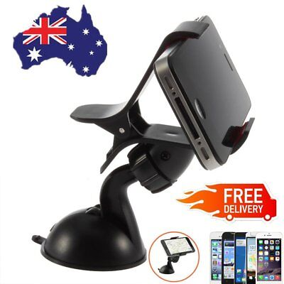 Universal 360°Rotation Car Mount Holder Windshield Bracket for GPS Cell Phone E5
