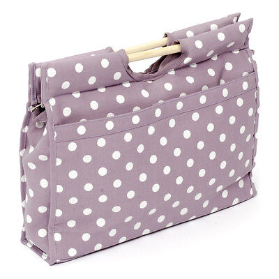NEW | HobbyGift MR4687/121 | Value Craft Bag Mauve Spot Design | FREE SHIPPING