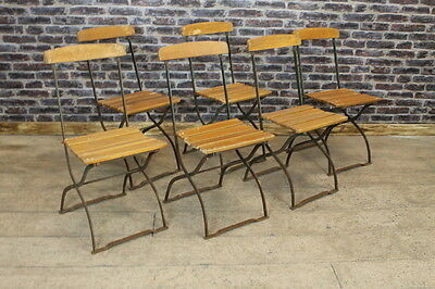 Vintage 1950S Folding Garden Chairs Restaurant Chairs